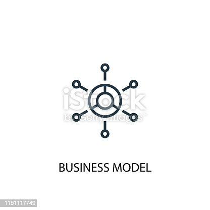 business model icon. Simple element illustration. business model concept symbol design. Can be used for web and mobile.