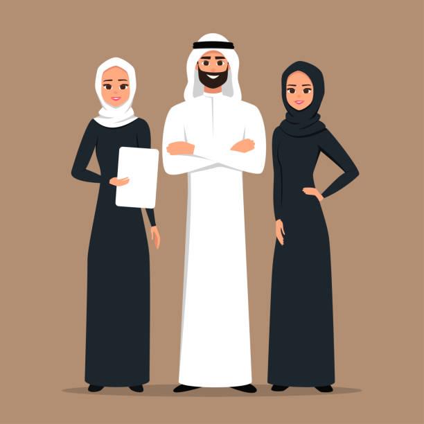 商業回教人在傳統服裝載體例證。 - emirati woman 幅插畫檔、美工圖案、卡通及圖標