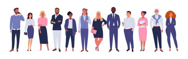 ilustrações, clipart, desenhos animados e ícones de equipe multinacional de negócios. - diversidade de pessoas