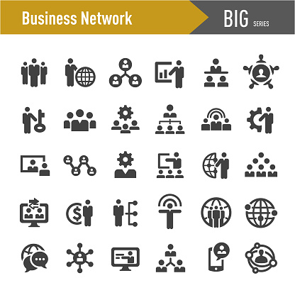 Business Network Icons - Big Series