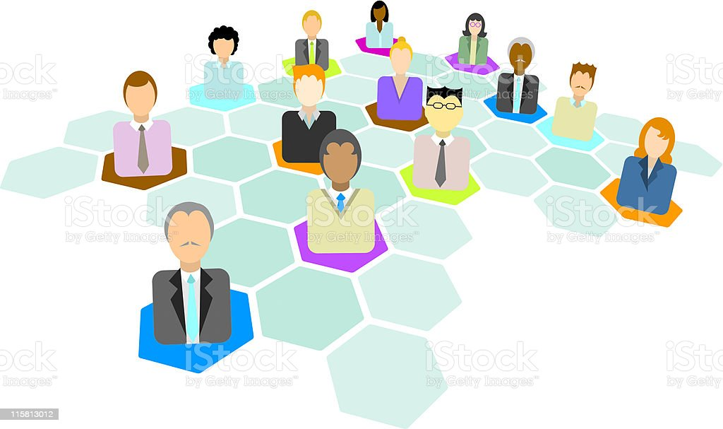 Business network of man and women royalty-free business network of man and women stock vector art & more images of adult