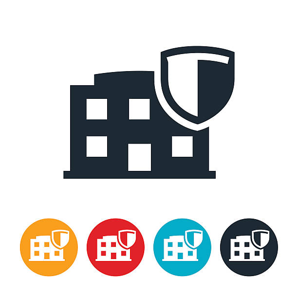 business Network Security Icon vector art illustration