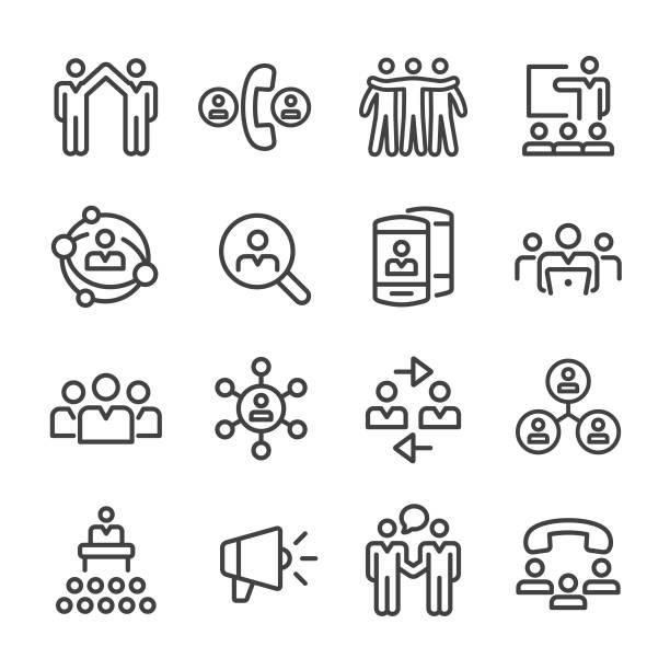 ビジネス ネットワーク アイコン - ライン シリーズ - 展示会点のイラスト素材/クリップアート素材/マンガ素材/アイコン素材