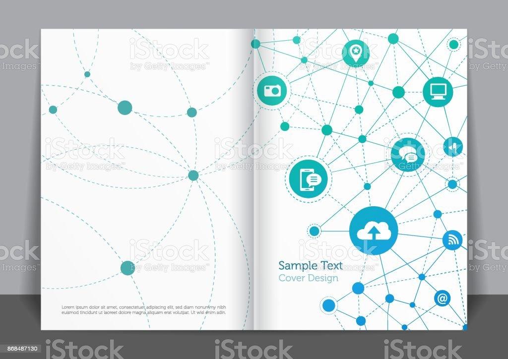 Business Networks Cover design vector art illustration