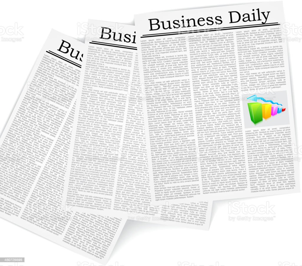 Business Newspaper royalty-free business newspaper stock vector art & more images of article