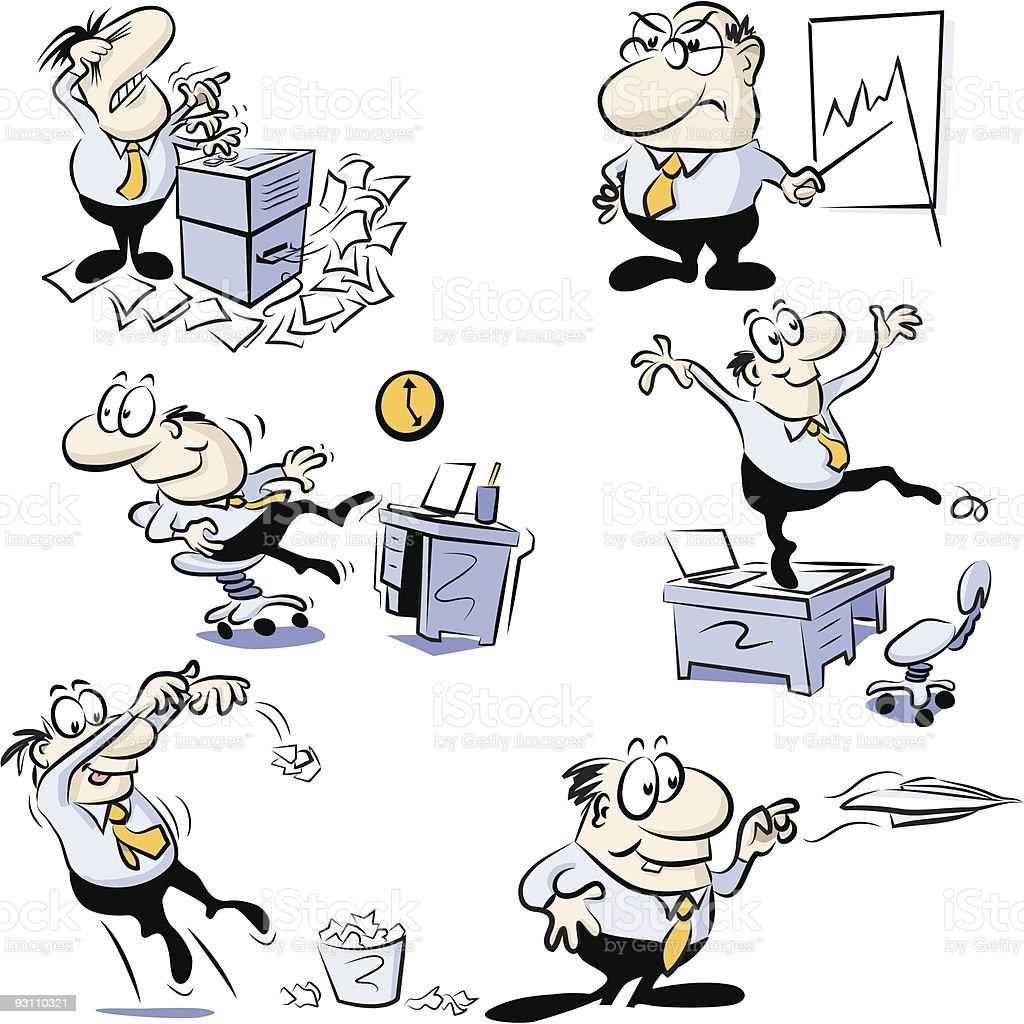 Business Buro Cartoons Stock Vektor Art Und Mehr Bilder Von