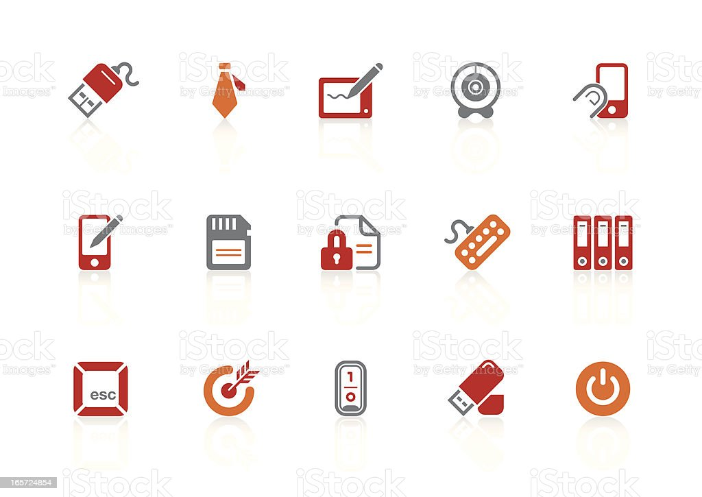 Business & office icons | alto series vector art illustration