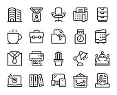 Business Office Line Icons Vector EPS File.