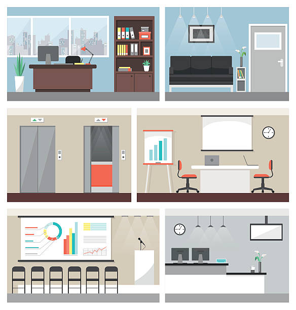 business office - office stock illustrations