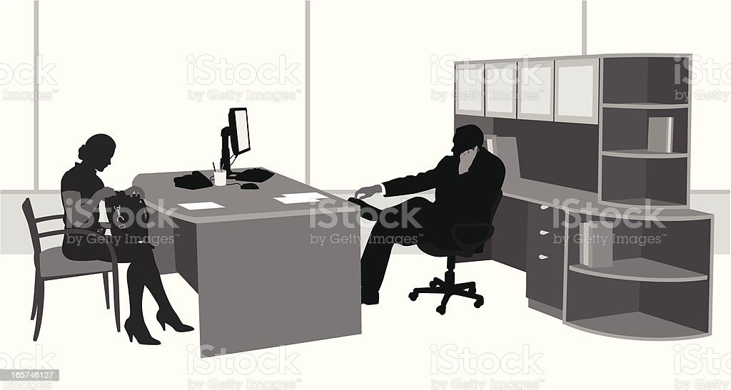 Business Office Vector Silhouette royalty-free stock vector art
