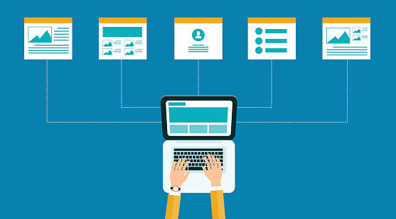 business online content .web design structure and layout.