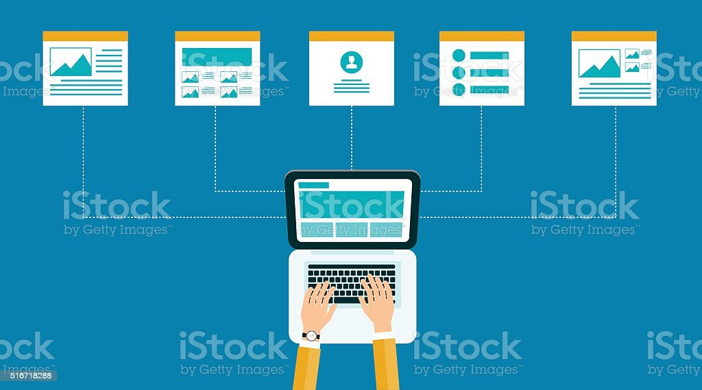 business online content .web design structure and layout. vector art illustration