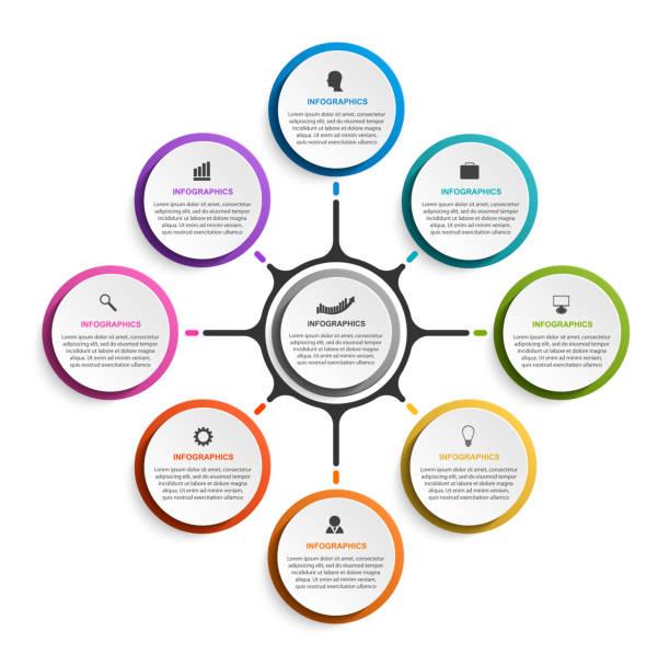 Negocios opciones de infografía, calendario, plantilla de diseño para presentaciones de negocios o cartel de información. - ilustración de arte vectorial