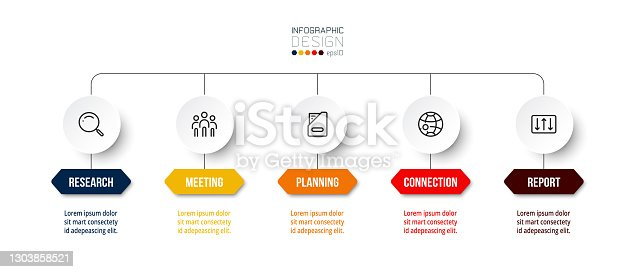 istock Business or marketing infographic template. 1303858521