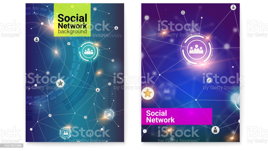 Business or social media networks. Interaction in internet network....