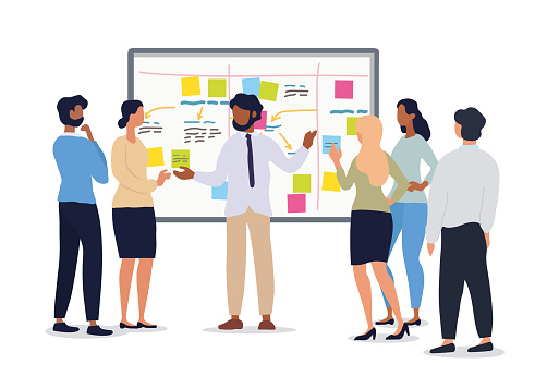 Business or team leader holding a meeting