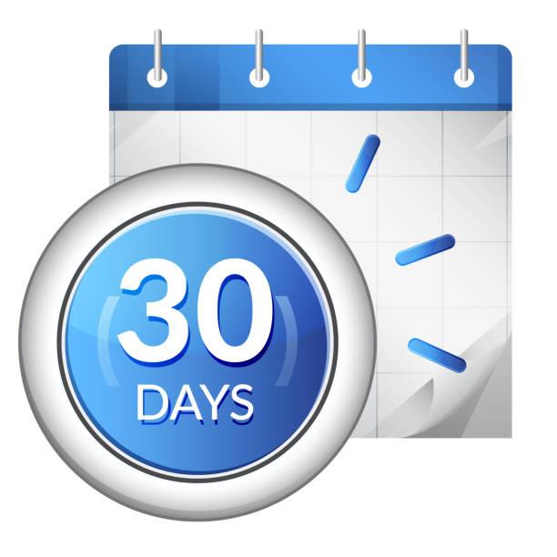 Business Organizer 30 Days Deadline - Icon Business Organizer 30 Days Deadline - Icon as EPS 10 File day stock illustrations