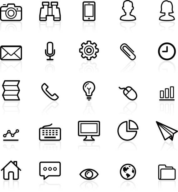 Business-Kontur icons set. – Vektorgrafik