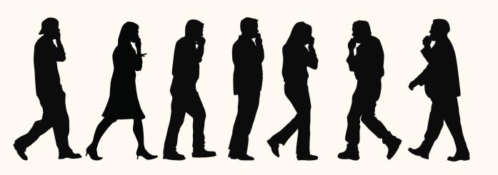 Business over cellphones ( Vector )