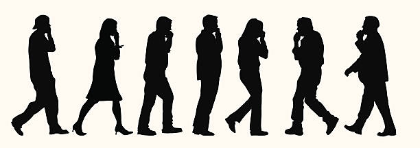 Business over cellphones ( Vector ) Silhouette. svg stock illustrations