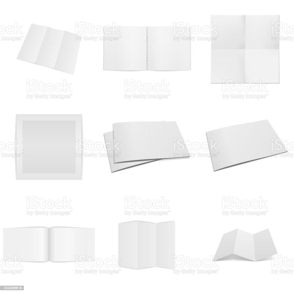Business paper empty Mockups Set vector art illustration
