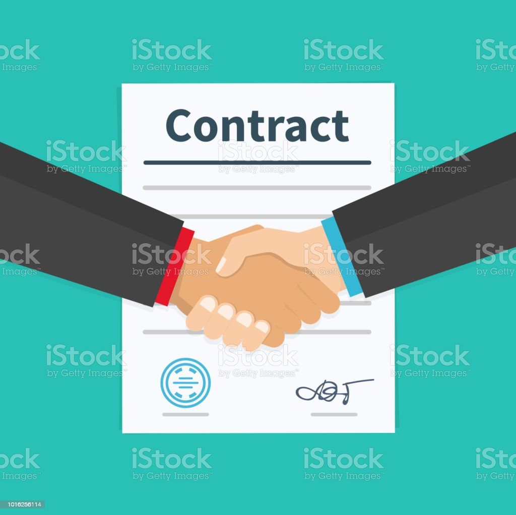 Business Partner Handshake Von Geschäftspartnern Umgehen Vertrag ...