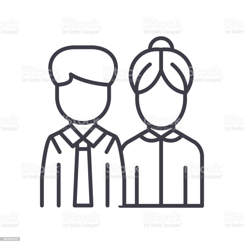 Business partners black icon concept. Business partners flat  vector symbol, sign, illustration. royalty-free business partners black icon concept business partners flat vector symbol sign illustration stock vector art & more images of adult
