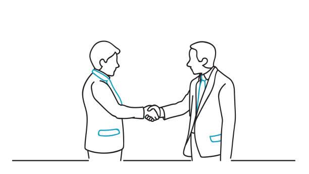 ilustrações, clipart, desenhos animados e ícones de acordo de parceria de negócios - político