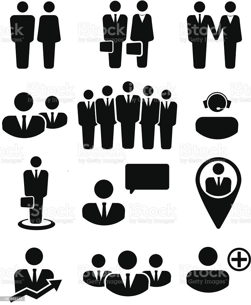 Biznes ludzi i zasobów ikon – artystyczna grafika wektorowa