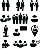 Business people and resources icons
