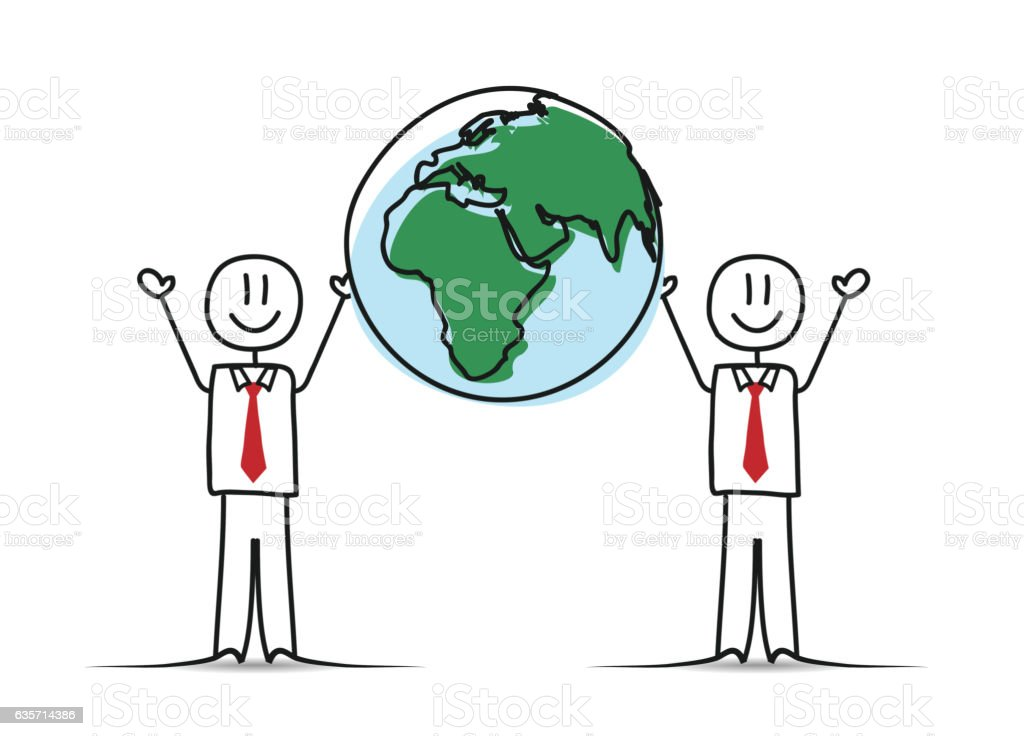Business People and World royalty-free business people and world stock vector art & more images of cartoon