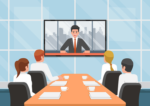Conference call stock illustrations