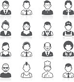 Business people avatar icons. This file come in EPS 8 format.