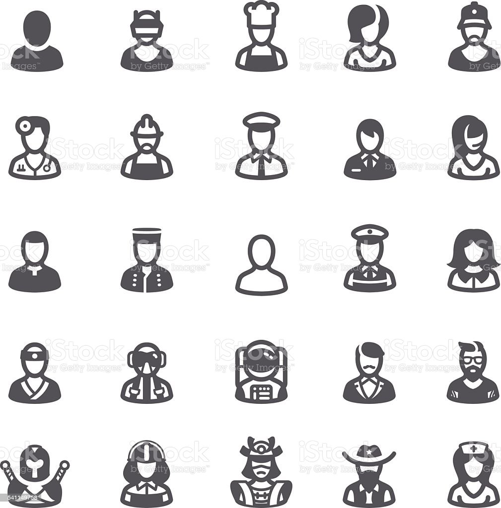 Business people avatars icons vector art illustration