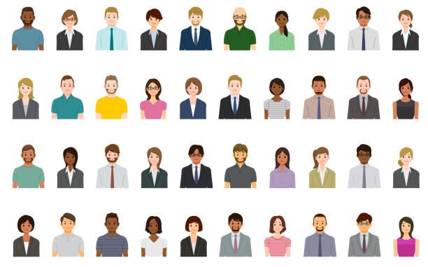 Business-Menschen-Avatare gesetzt – Vektorgrafik