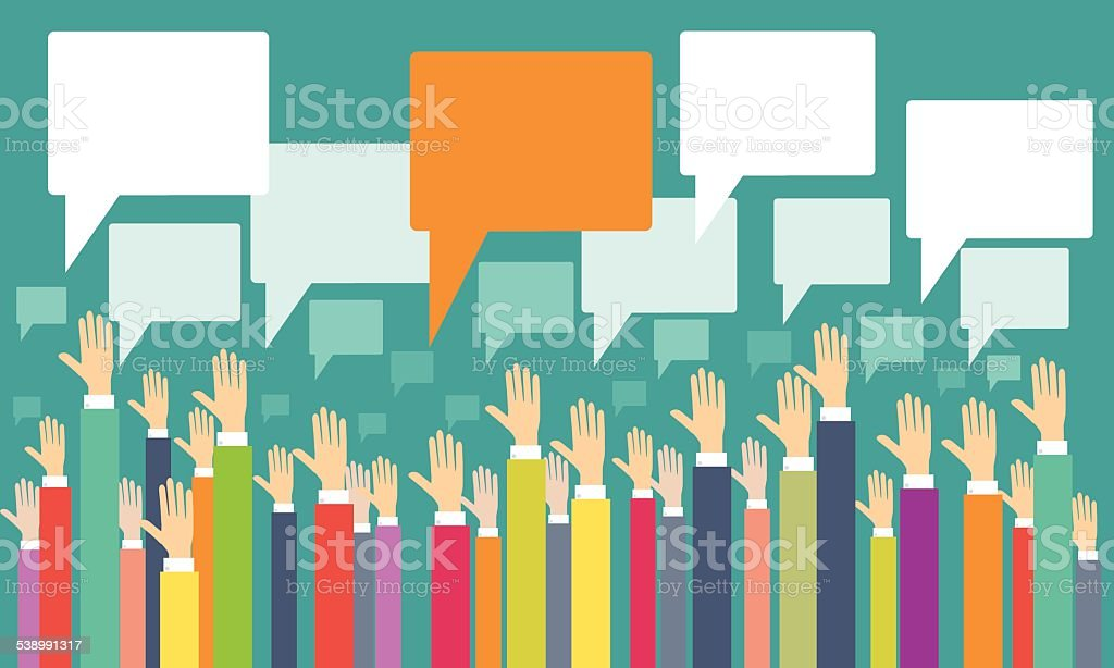 business people brainstorming to business idea vector art illustration
