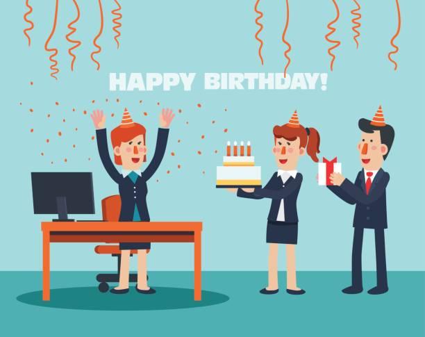 Best Office Birthday Illustrations Royalty Free Vector