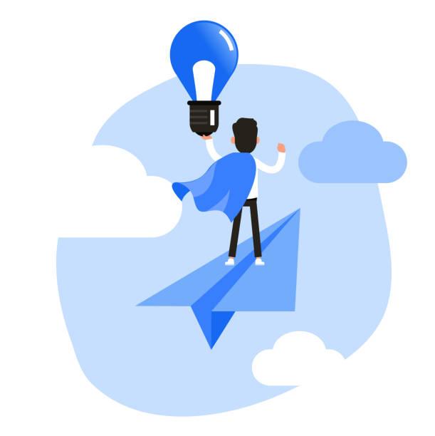 illustrations, cliparts, dessins animés et icônes de conception de vecteur de caractère de gens d'affaires. gens d'affaires avec le concept d'idée. - entrepreneur