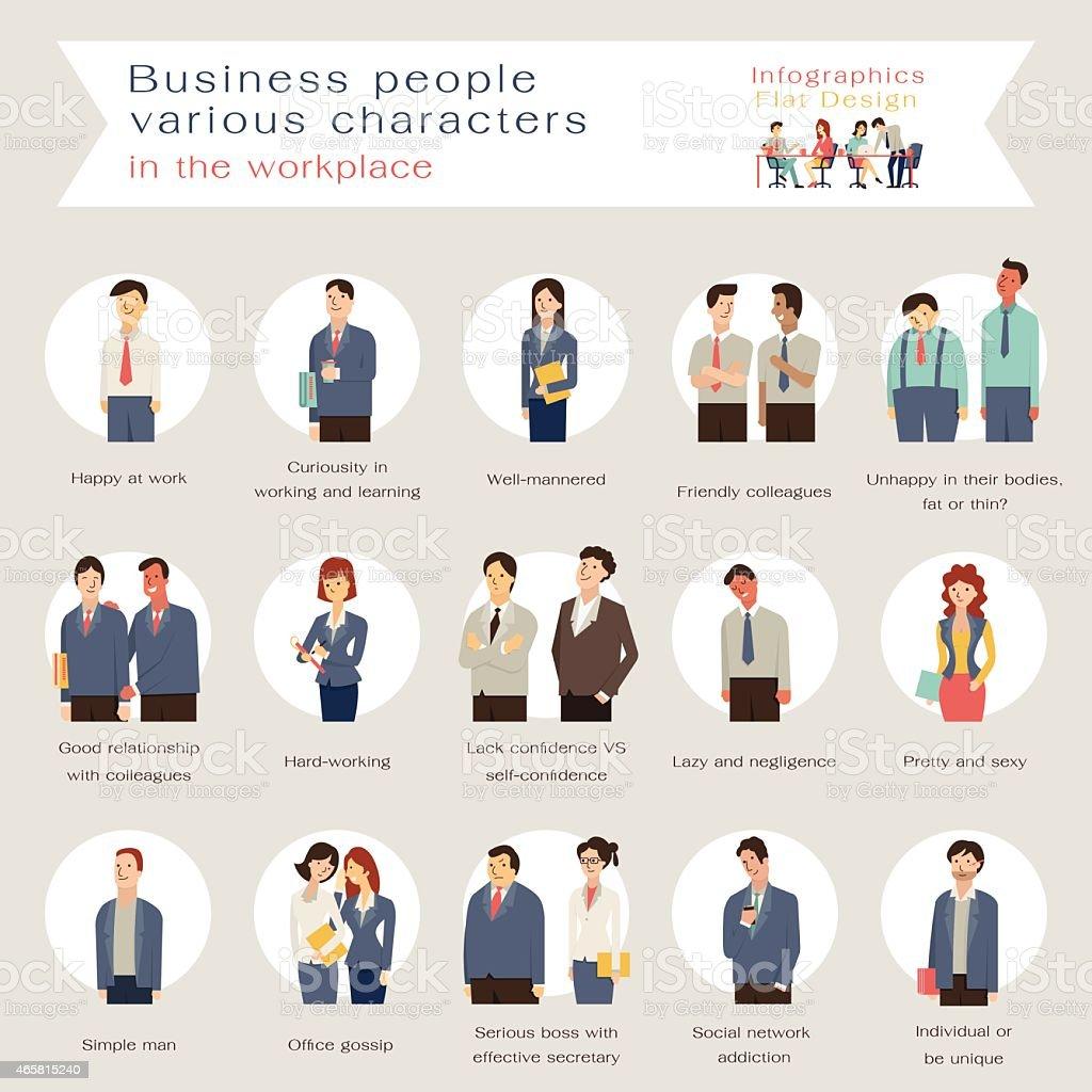 ビジネスの人々の文字 ベクターアートイラスト