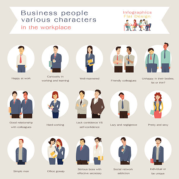 ビジネスの人々の文字 - ビジネスマン点のイラスト素材/クリップアート素材/マンガ素材/アイコン素材