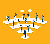 Business people communication