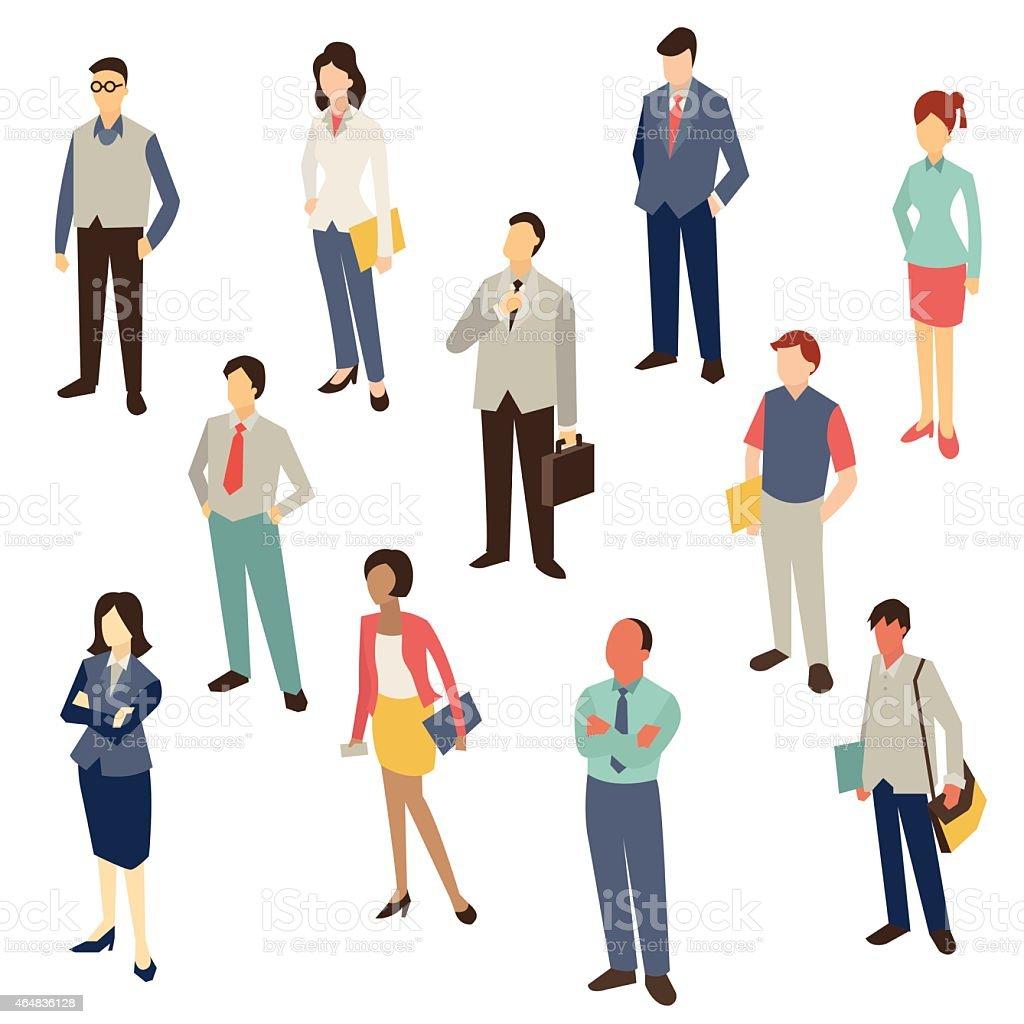Business people design vector art illustration
