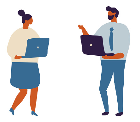 Business People Flat Character Flat Vector