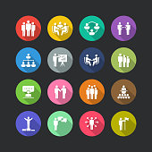 Business People Flat Icon Set