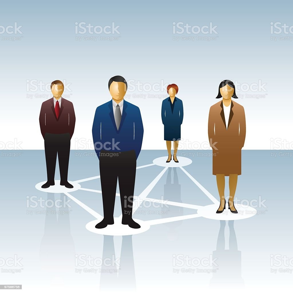 Business people forming a network royalty-free business people forming a network stock vector art & more images of adult