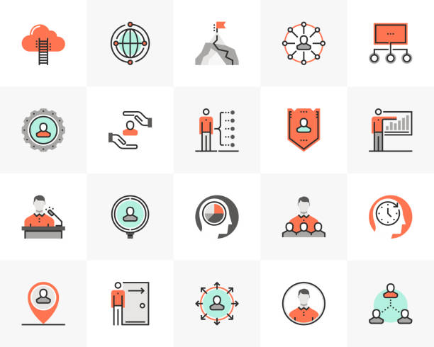 Business People Futuro Next Icons Pack vector art illustration