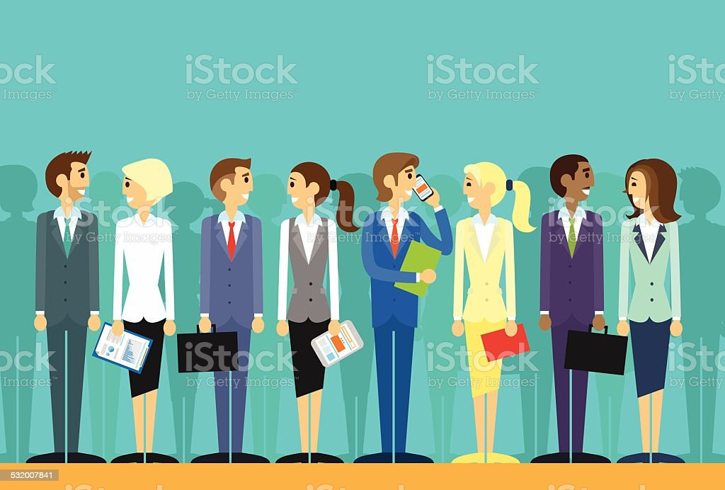 business people group human resources flat vector vector art illustration