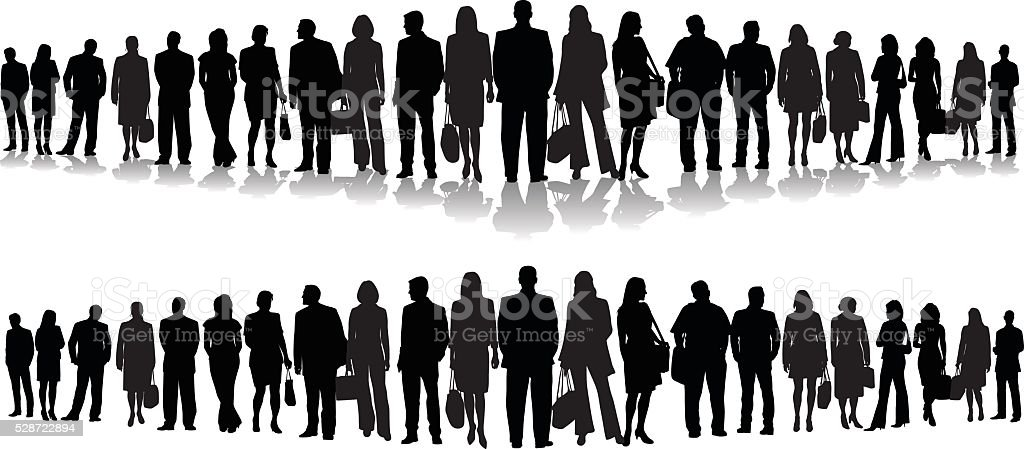 Business People Header Triangle vector art illustration