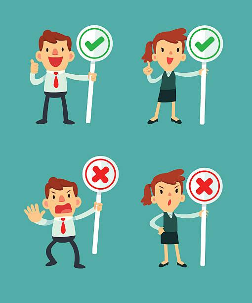 business people holding sign – Vektorgrafik