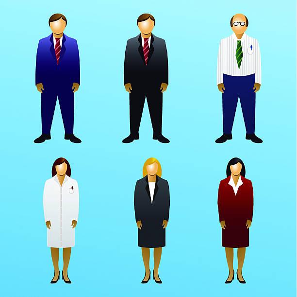 ilustraciones, imágenes clip art, dibujos animados e iconos de stock de icono set-negocios de pie - gerente de cuentas
